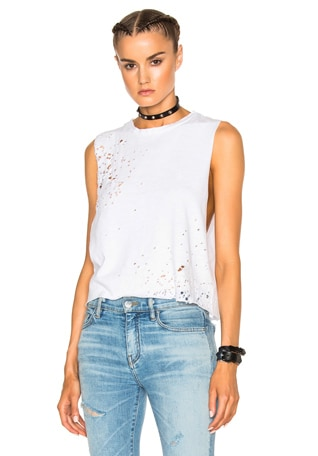 Shotgun Cropped Muscle Tank Top