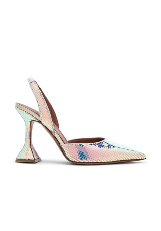 Hologram Leather Holli Slingback Pumps