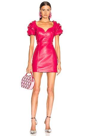 Leather Balloon Dress