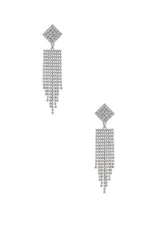 Diamond Crystal Fringe Earrings