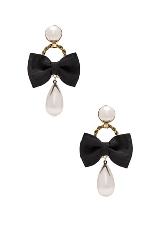 Bow & Pearl Earrings