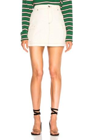 Patch Pocket Mini Skirt