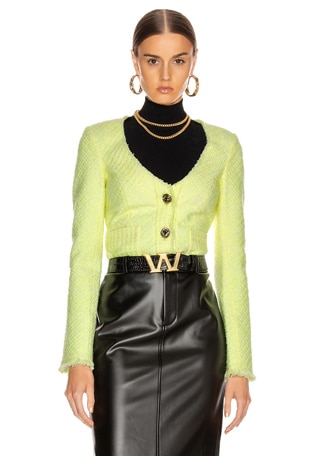 Bias Tweed Cardigan Jacket