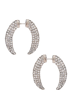 Diamante Claw Faux Gauge Earrings