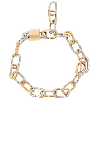 Broken Link Double Lock Necklace