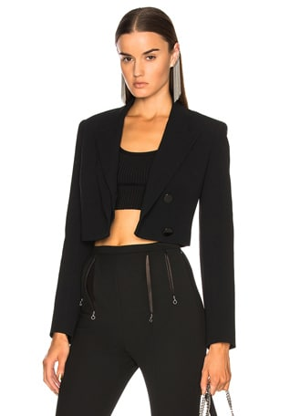 Cropped Split Lapel Jacket