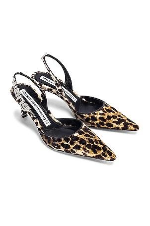 Grace Leopard Velvet Heel
