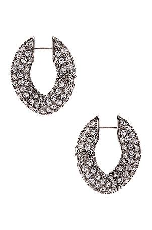 Strass Loop Earrings
