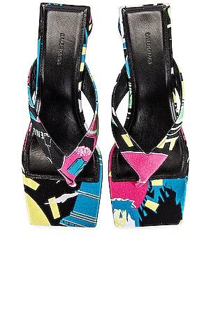 Paris Double Square Sandals