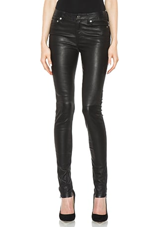 5 Pocket Skinny Leather Pant