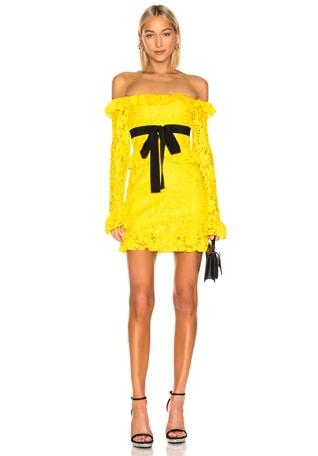 Off the Shoulder Lace Mini Dress