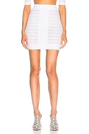 High Waisted Medical Stripe Skirt