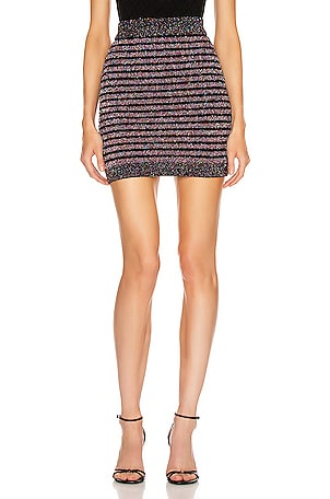 Short Glitter Stripe Skirt