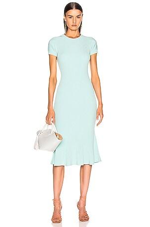 Shortsleeve Knit Fit & Flare Dress