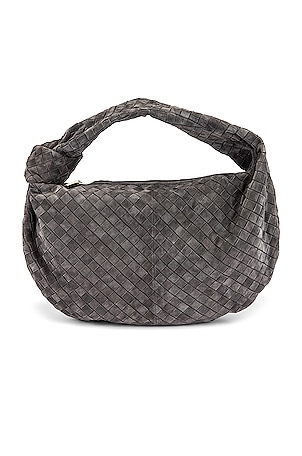 Suede Woven Shoulder Bag