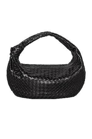 Large Leather Woven Shoulder Bag