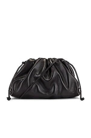 Mini Leather Pouch Clutch Crossbody Bag
