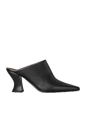 Leather Pointed Toe Mules