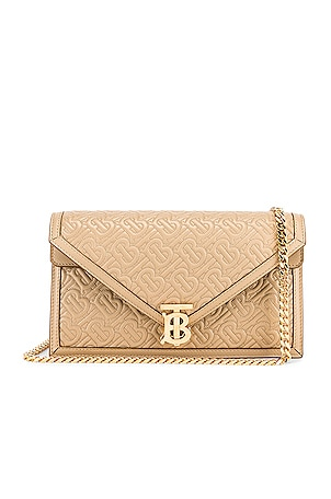 Small Monogram Quilted Envelope Chain Bag
