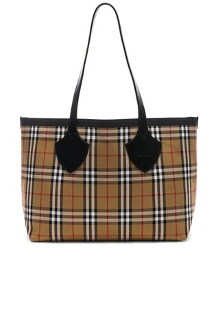 Reversible Vintage Check Tote