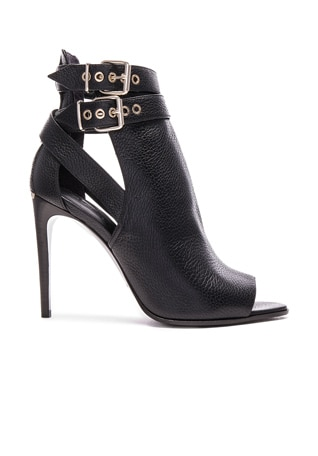 Overfield Peep Toe leather Ankle Booties