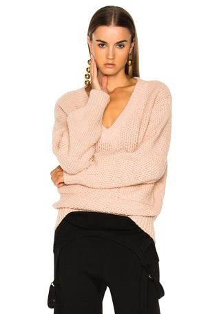 Chunky Stitch V-Neck Sweater