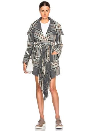 Maxi Checks Blanket Coat