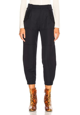 Serge Wool Mix Trousers