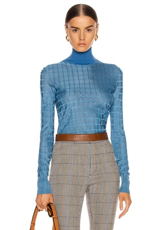 Geometric Turtleneck Top