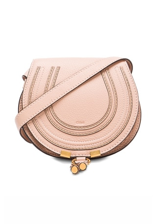 Small Marcie Grained Calfskin Saddle Bag