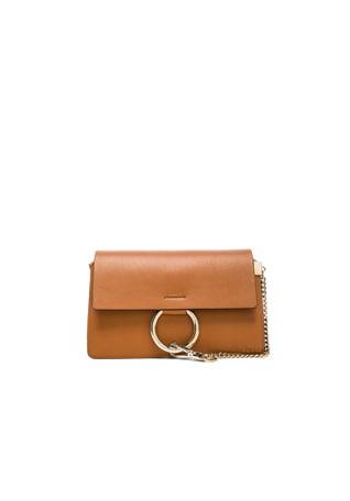 Small Faye Grained Calfskin Shoulder Bag