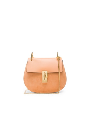 Small Suede & Calfskin Drew Shoulder Bag