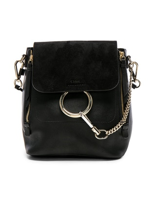 Small Faye Backpack Suede & Calfskin