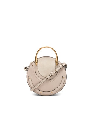 Small Pixie Shiny Goatskin, Calfskin & Suede Double Handle Bag