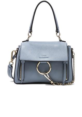 Mini Faye Calfskin & Suede Day Bag