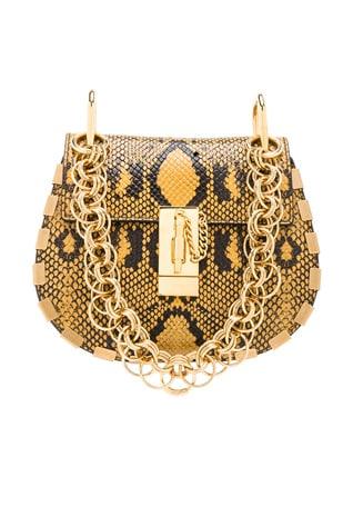 Mini Drew Bijou Python Print Leather Shoulder Bag