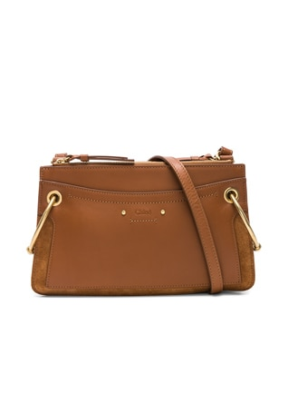 Mini Roy Calfskin & Suede Shoulder Bag
