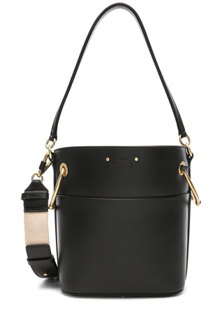 Small Roy Calfskin Bucket Bag
