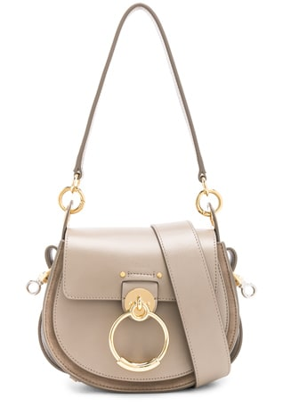 Small Tess Shiny Calfskin Shoulder Bag