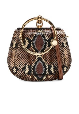 Nile Small Python Print Bracelet Bag