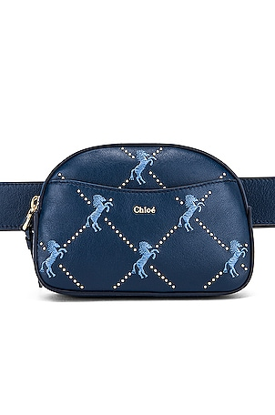 Signature Embroidered Leather Belt Bag