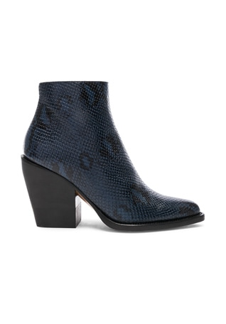 Rylee Python Print Leather Ankle Boots