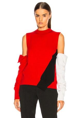 Fold Down Sleeve Sweater