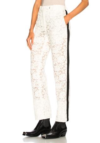 Cotton Viscose Lace Trousers