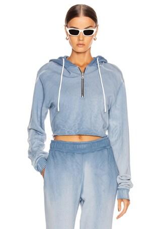 Brooklyn Crop Zip Sweatshirt