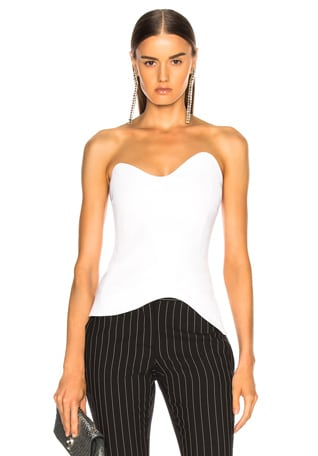 Strapless Fitted Top