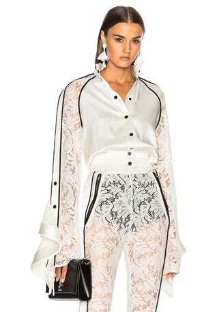 Lace Sleeve Ruffle Jacket