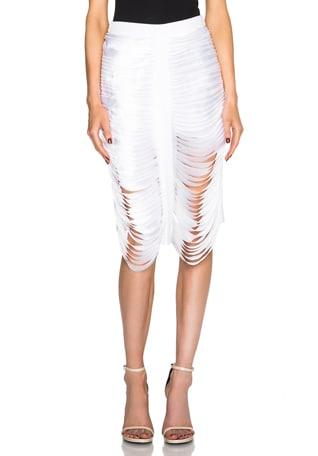 Silk Satin Bias Stack Skirt