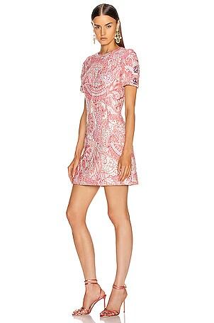 Short Sleeve Embellished Sleeve Dress
