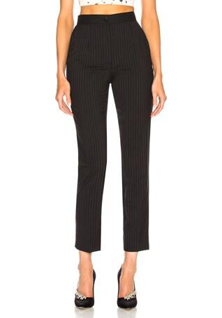 Pinstripe Stretch Wool Trousers